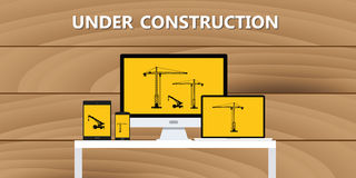 Website construction construct under development concept Royalty Free Stock Images