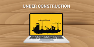 Website construction construct under development concept Royalty Free Stock Photo