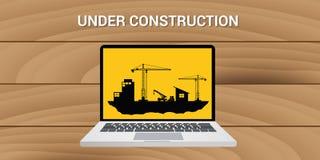 Website construction construct under development concept Royalty Free Stock Photo
