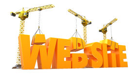 Website construction Stock Images