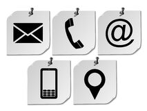 Website Contact Us Icons On Post It Stock Photography