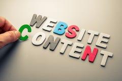 Website Content Stock Image