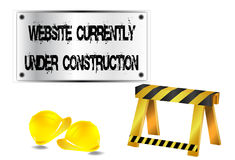 Website currently under construction Royalty Free Stock Photos