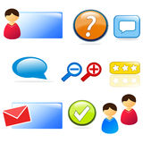 Website & customer support icon set Royalty Free Stock Image