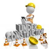 website 3D under konstruktionsbegrepp Arkivbilder