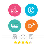 Website database icon. Copyrights and repair. Stock Image