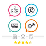 Website database icon. Copyrights and repair. Royalty Free Stock Images
