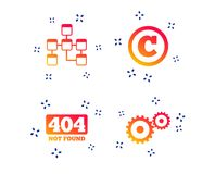 Website database icon. Copyrights and repair. Vector