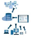 Website database symbols Stock Images