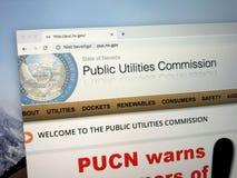 Website der Kommission der öffentlichen Einrichtungen von Nevada stockbilder