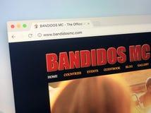 Website des Motorradclubs Bandidos - der Bandido-Nation Lizenzfreies Stockfoto