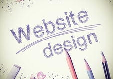 Website-Design Lizenzfreies Stockfoto