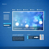 Website Design Blue Template Stock Photos
