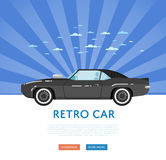 Website design with classic muscle car Royalty Free Stock Photography