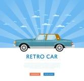 Website design with classic retro sedan Stock Images
