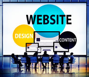 Website Design Content Internet Online Connection Concept Stock Images