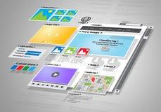 Website design and development project. Conceptual image of Website design and development project vector illustration