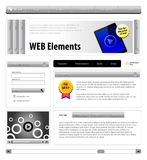 Website Design Elements Royalty Free Stock Photos