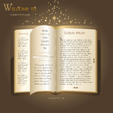 Website design - Fairytale book. Fairytale book like a website template Stock Images