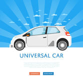 Website design with family universal city car Stock Images