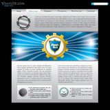 Website design with golden cog Royalty Free Stock Photo