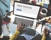 Website Design Homepage Layout Creativity Concept Stock Image
