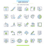 Website design icons Stock Photos