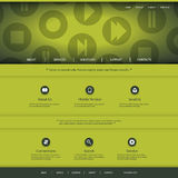 Website Design with Media Player Control Icons Pattern Stock Photo