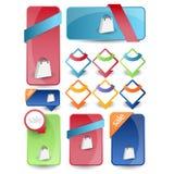 Website design navigation menu pack Stock Photos