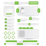 Website design navigation menu pack Royalty Free Stock Photography