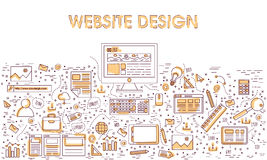 Website design options elements. Royalty Free Stock Photography