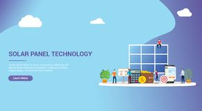 Website design page template landing ui ux for solar panel energy business electric saving financial alternative efficient for. Cheaper solutions royalty free illustration