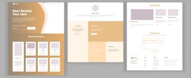 Website-Design-Schablonen-Vektor Geschäfts-Landung Webseite IT-Technologie Optimierungs-Fortschritt Blognachrichten kommerziell vektor abbildung