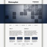 Website Design with Squares and Mosaic World Map. Modern Colorful Business or Technology Website Design Template - Freely Scalable and Editable Vector Format Royalty Free Stock Photography