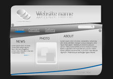 Website design steel template Stock Photos