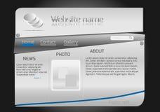 Website design steel template Stock Photos