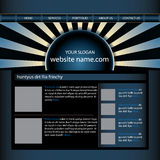 Website design template Royalty Free Stock Photos