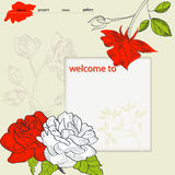 Website design template. With Rose flower Royalty Free Stock Photography