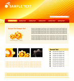 Website design template Stock Images