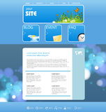 Website design template Royalty Free Stock Image