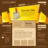 Website design template 960 Grid Royalty Free Stock Photo