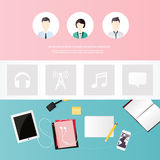 Website design template. All in one set for website design that Royalty Free Stock Photo