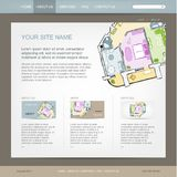 Website design template for building company Stock Photography