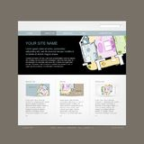 Website design template for building company Royalty Free Stock Images