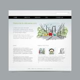 Website design template, cityscape Stock Photos