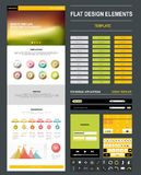 Website design template� Royalty Free Stock Photos