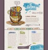 Website design template Stock Image