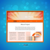 Website design template Stock Image