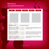 Website design template for fashion,beauty,luxury Stock Photo