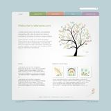 Website design template with floral tree Royalty Free Stock Images